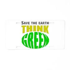 love the earth Aluminum License Plate