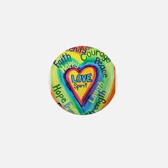 Happy words Mini Button