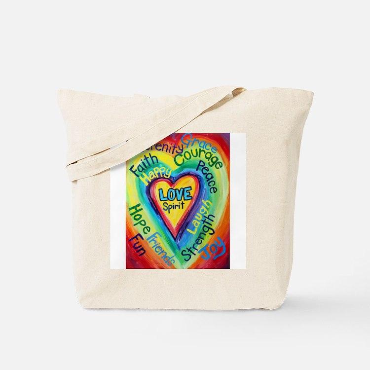 Happy words Tote Bag