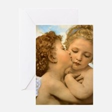 First Kiss by Bouguereau Greeting Cards