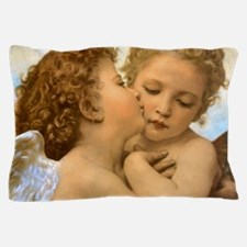 First Kiss by Bouguereau Pillow Case