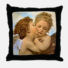 First Kiss by Bouguereau Throw Pillow