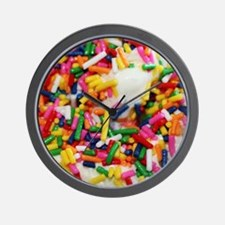 candy sprinkles sweet ice cream dessert Wall Clock