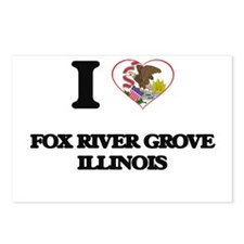I love Fox River Grove Il Postcards (Package of 8)