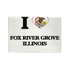 I love Fox River Grove Illinois Magnets