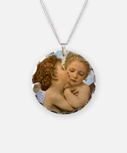 First Kiss by Bouguereau Necklace