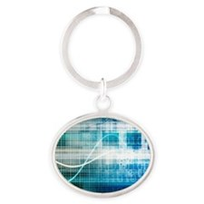 Health Science Oval Keychain