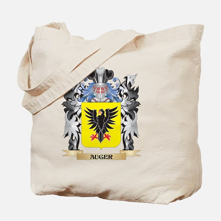 Auger Coat of Arms - Family Crest Tote Bag