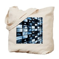 Futuristic Digital Tote Bag