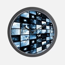 Futuristic Digital Wall Clock