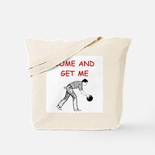 bowling joke Tote Bag