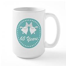 65th Anniversary Wedding Bells Ceramic Mugs