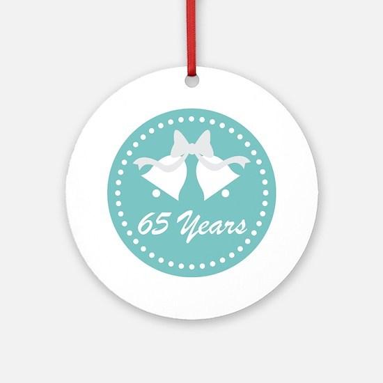 65th Anniversary Wedding Bells Ornament (Round)