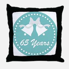 65th Anniversary Wedding Bells Throw Pillow