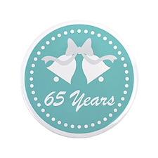 65th Anniversary Wedding Bells Button