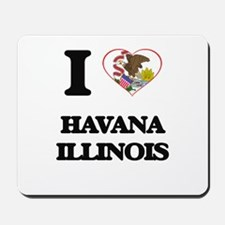I love Havana Illinois Mousepad