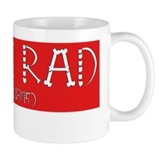 Red Rad Label Mug