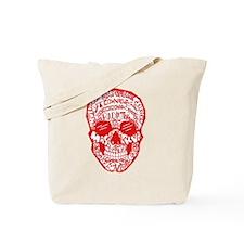 Red Rad Skull Tote Bag