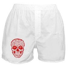 Red Rad Skull Boxer Shorts