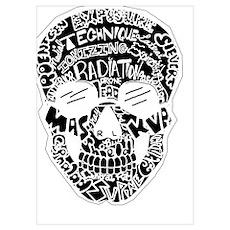 Inverted Rad Skull Poster