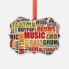 Music Background Genre Ornament