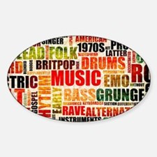 Music Background Genre Decal