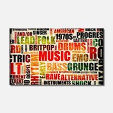 Music Background Genre Car Magnet 20 x 12