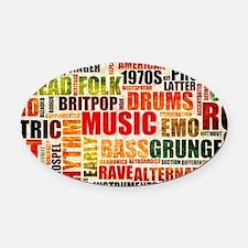 Music Background Genre Oval Car Magnet