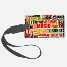 Music Background Genre Luggage Tag
