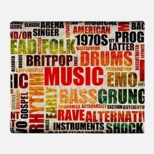 Music Background Genre Throw Blanket