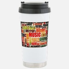 Music Background Genre Stainless Steel Travel Mug