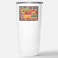 Music Background Genre Travel Mug