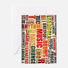 Music Genres Grunge Greeting Card
