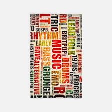 Music Genres Grunge Area Rug