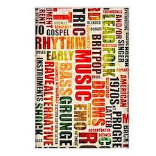 Music Genres Grunge Postcards (Package of 8)