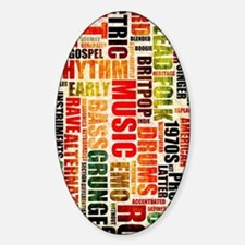 Music Genres Grunge Decal