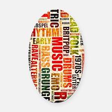 Music Genres Grunge Oval Car Magnet