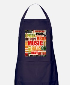 Music Genre Types Apron (dark)