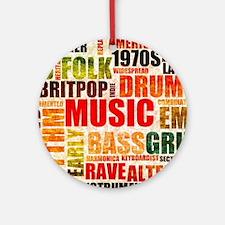 Music Genre Types Round Ornament