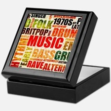Music Genre Types Keepsake Box