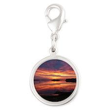 9/29 Dazzling Sunrise Silver Round Charm