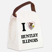 I love Huntley Illinois Canvas Lunch Bag