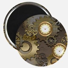 Steampunk, clocks and gears Magnets