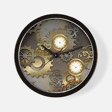 Steampunk, clocks and gears Wall Clock