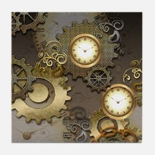 Steampunk, clocks and gears Tile Coaster