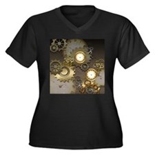 Steampunk, clocks and gears Plus Size T-Shirt
