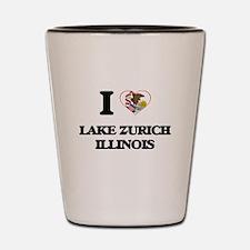 I love Lake Zurich Illinois Shot Glass