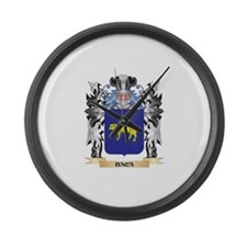 Baca Coat of Arms - Family Crest Large Wall Clock