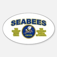 The Difficult We Do Today - Seabees Sticker (Oval)