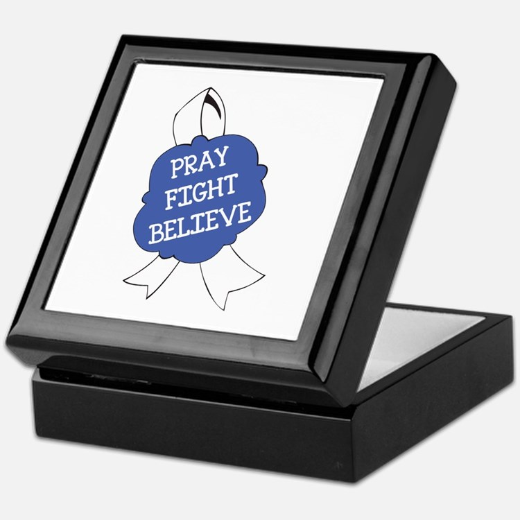 PRAY FIGHT BELIEVE Keepsake Box